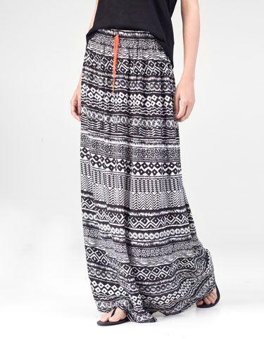 Print maxi skirt