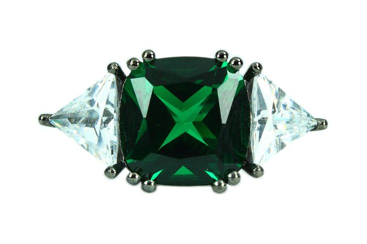 Selling out fast! Square and Triangle Ring - 925 Silver Handmade - Green Emerald Stone and White Swarovski - Black Rhodium Plating - Free Shipping https://www.etsy.com/listing/233376053/square-and-triangle-ring-925-silver?utm_campaign=crowdfire&utm_content=crowdfire&utm_medium=social&utm_source=pinterest