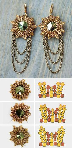 Beaded earring tutorial #diy