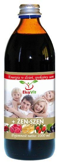 Sok Ekavit z żeń-szeniem (1000 ml) - Eka Medica