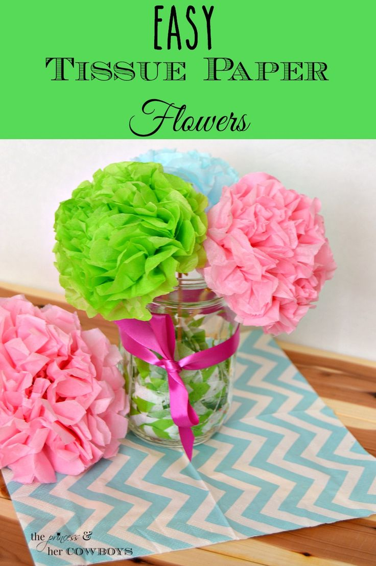 Easy Flowers with Tissue Paper , Valentine gifts