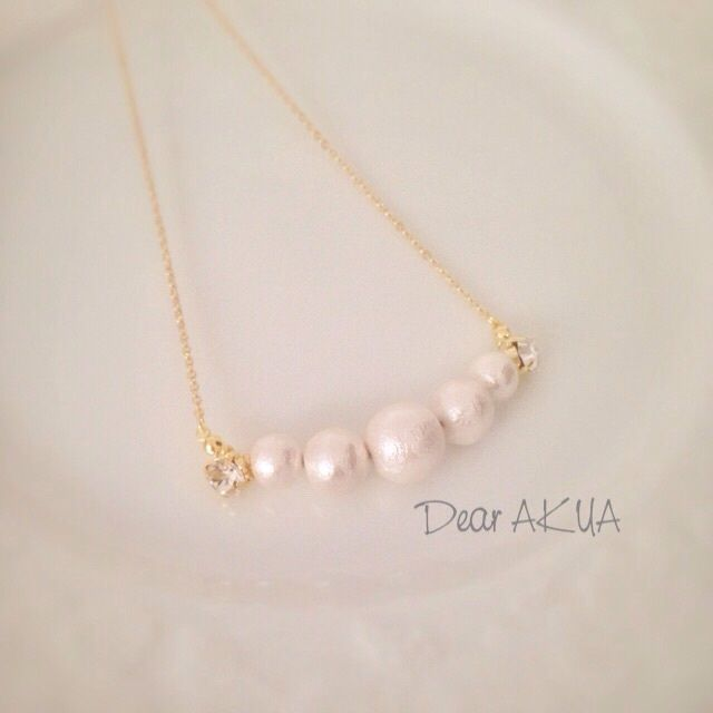 Cotton Pearl * Bijoux 華奢ネックレス