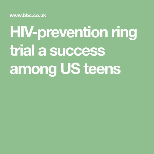 HIV-prevention ring trial a success among US teens