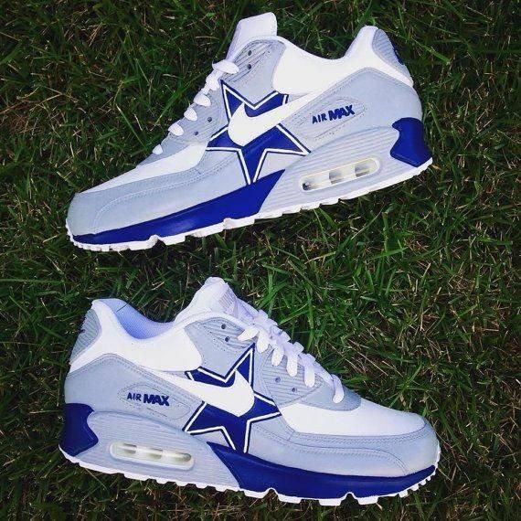Air Max 90(greywhiteblue) in 2019 | Dallas cowboys shoes