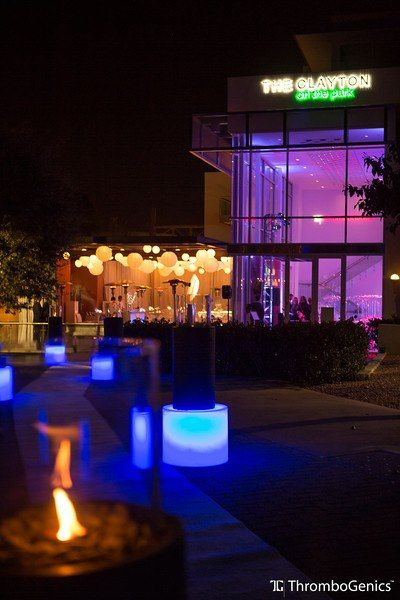 Front entrance with kool ligthing terrace lighting and for Terrace party decoration