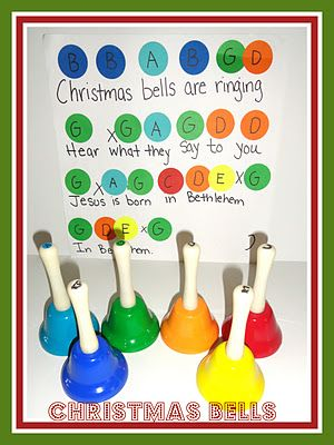 Christmas Bells music time-got the bells from Michaels for about $18.00.  Worth every penny.