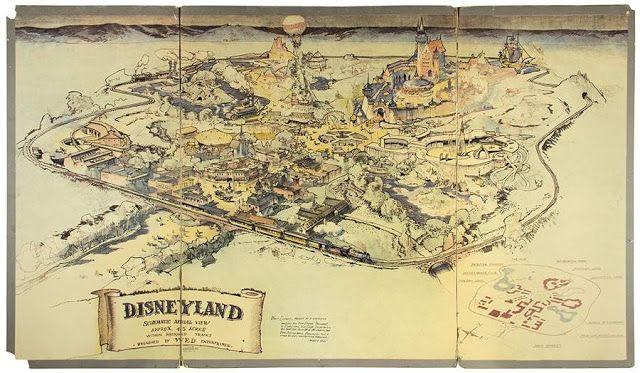 Disney Fan Collector: Venden un mapa de Disneyland hecho por Walt Disney...