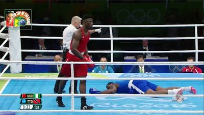 Rio Olympics: Nigerian Boxer Knocks Out Opponent In Round One    Young Nigerian boxer at the Rio 2016 Olympics seems gold-bound as he knocks out his opponent in a split of seconds.  It took Nigerias Efe Ajagba just 23 seconds to knockout his Trinidad & Tobago opponent Nigel Paul in Boxing Super Heavyweight 91kg category of Rio 2016 Olympics.  Referee instructs Efe Ajagba to a corner after he knocked down his opponent.  Nigerias sole representative in boxing at the Olympic Games outclassed…
