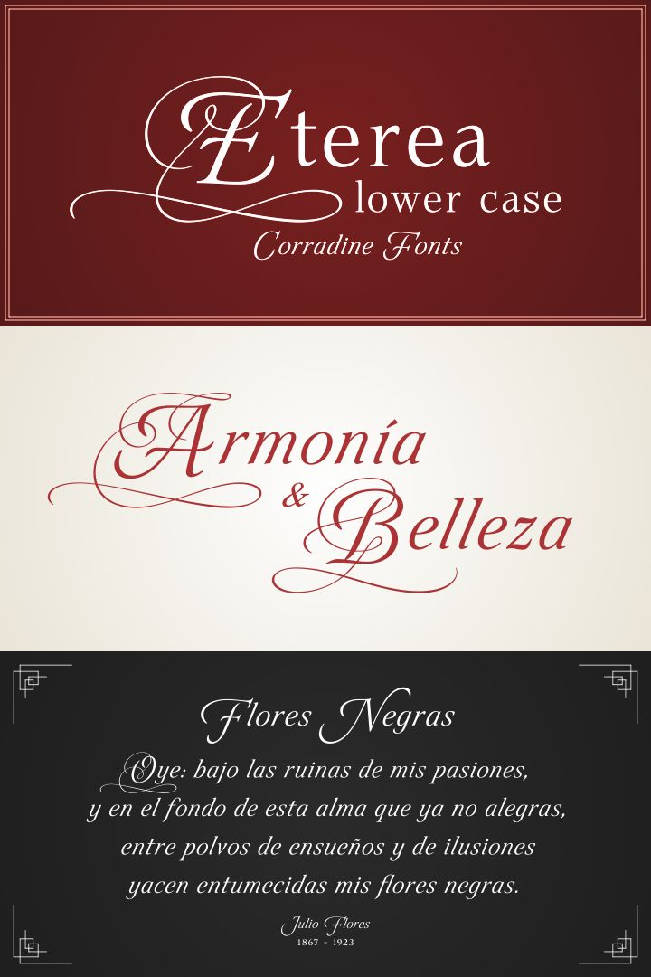 cursive fonts for wedding cards%0A Eterea LC font family  lovely  swashy formal script typeface by master  calligrapher Manuel Corradine