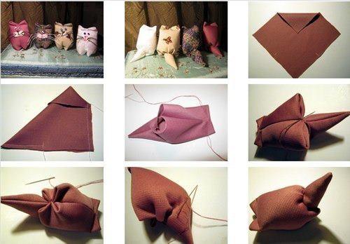 GATITOS: Diy Ideas, Cat, Dolls, Simple, Handmade Ideas, Fabrics Pet, Fabrics Kitty, Kittens, Fantastic Diy
