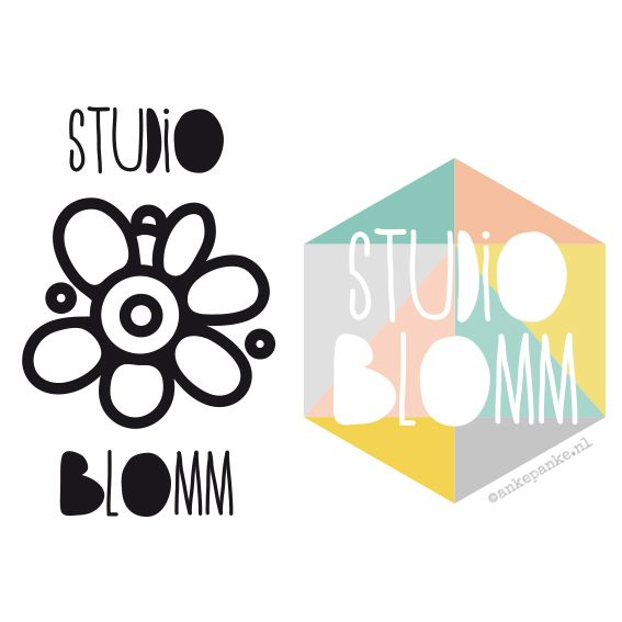 Logo restyling for Studio Blomm (handmade felt products webshop) by http://ankepanke.nl