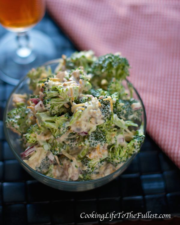 Amish Broccoli Salad. Use 1/4 c onion and 1 lb of bacon and sugar substitute