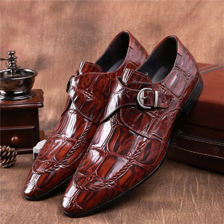Brillant Chaussures en cuir véritable pour hommes Brand New Business Party Dress Sliver Mode Hommes Casual Flats Oxfords vVHDHml