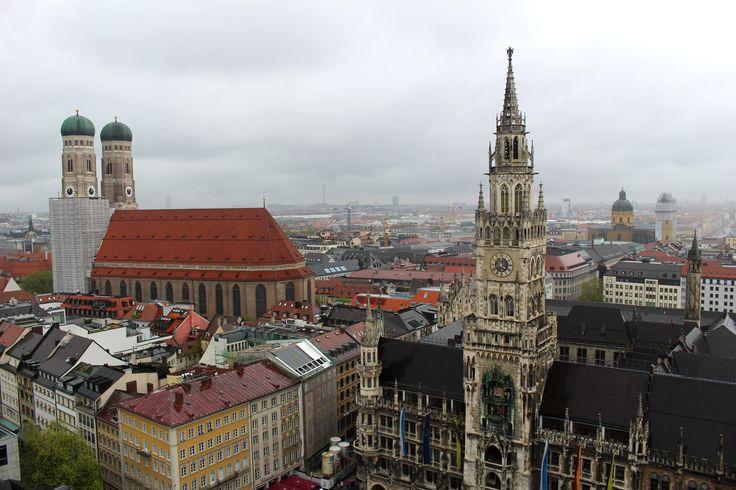 Marienplatz dall'alto della St. Peter's Kirche