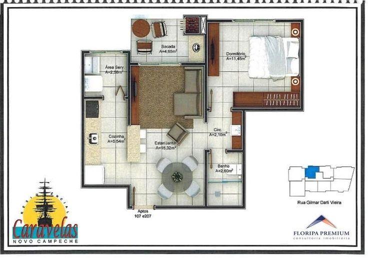 Apartamento de 1 dormitório, sala cozinha integrada, bwc, área de serviço, sacada com churrasqueira, garagem e hobby box. - Conheça!