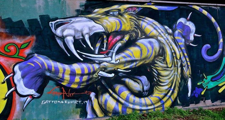 graffito di Gattonero a Superground, via Bussola, Milano