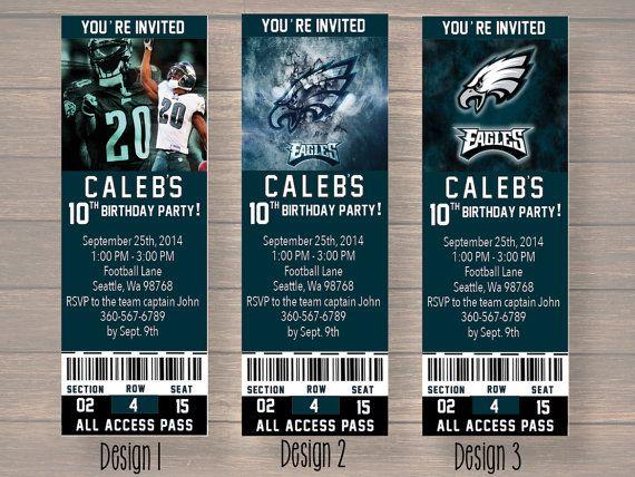 philadelphia eagles Custom Party Ticket by Onthegoprints on Etsy