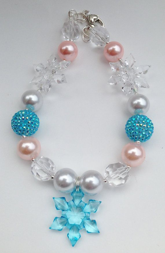 Frozen Chunky Necklace Frozen inspired girls by TheTwinkleShoppe, $18.00