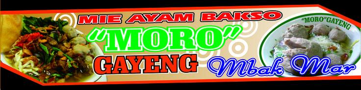 "Spanduk Mie Ayam Bakso ""moro gayeng"" - Design + Cetak Digital Printing Uk 6x1meter"