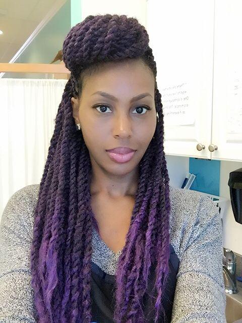 Purple Senegalese/Marley Twists