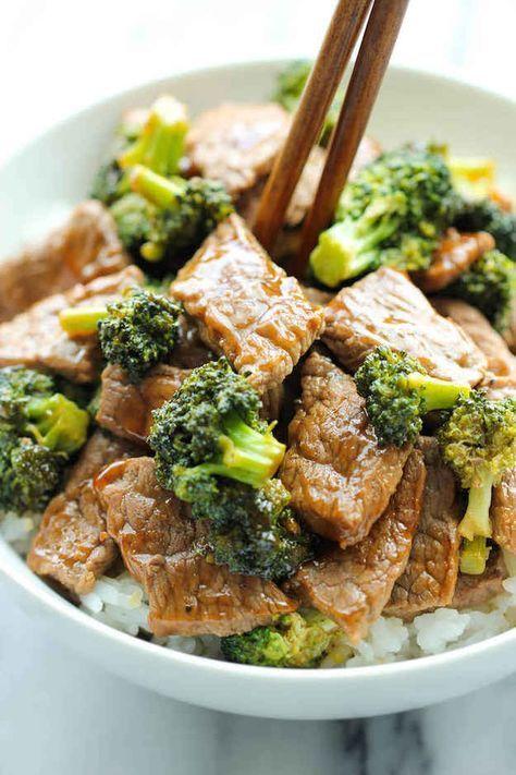 Rindfleisch-Pfanne mit Brokkoli