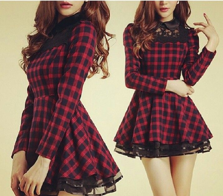 Flanel lace dress