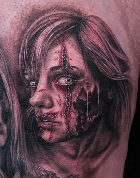 zombie tattoo by Stefano of New York City, NY