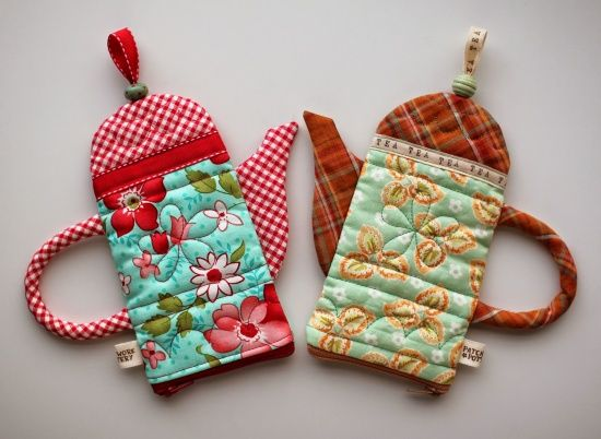 Teapot Pouch Pattern - Quilting Digest