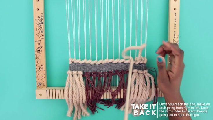 Prima Loom Tutorials - Soumak Learn how to weave! #fiberarts #weaving #looms