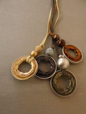 blog over sieraden van fietsbanden en van andere recycle of restmaterialen