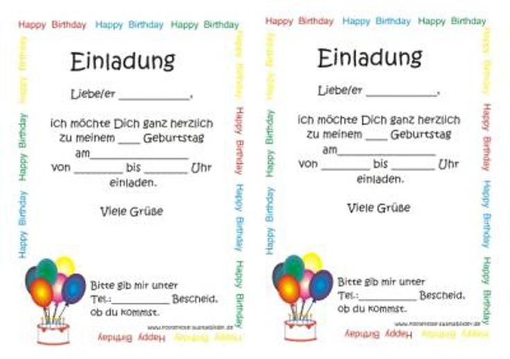 Einladungskarte Kindergeburtstag : Einladungskarte Kindergeburtstag Text - Einladungskarten Online - Einladungskarten Online