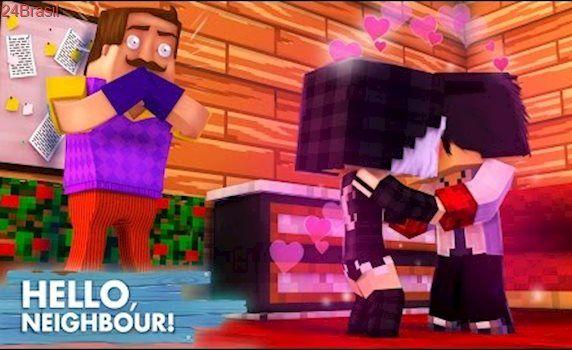 Minecraft HELLO NEIGHBOR -  O VIZINHO PEGOU A MIA E O WIIZINHO SE BEIJANDO!! | EP 24