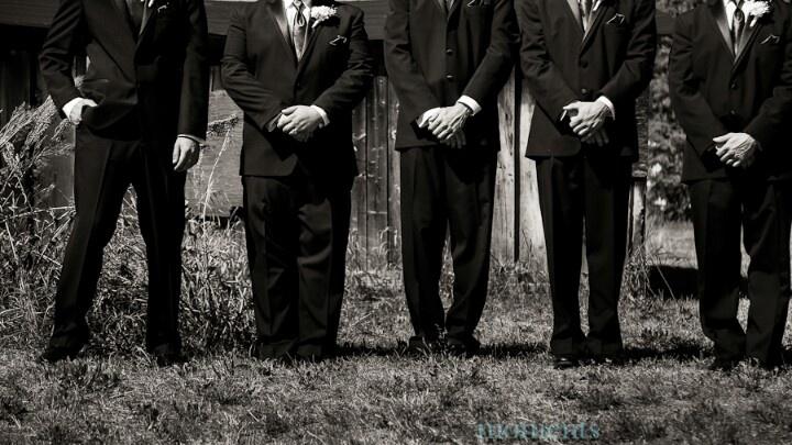 Groomsmen pose. Wedding. 2012.