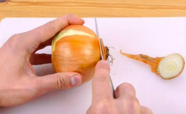L'astuce infaillible pour couper l'oignon parfaitement, facilement et rapidement