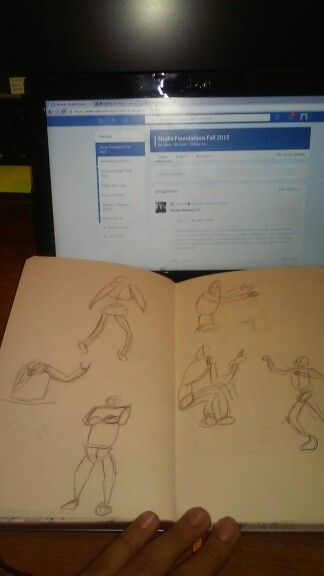 just like the other two pictures the gesture drawings were rapidly drawn without any erasing