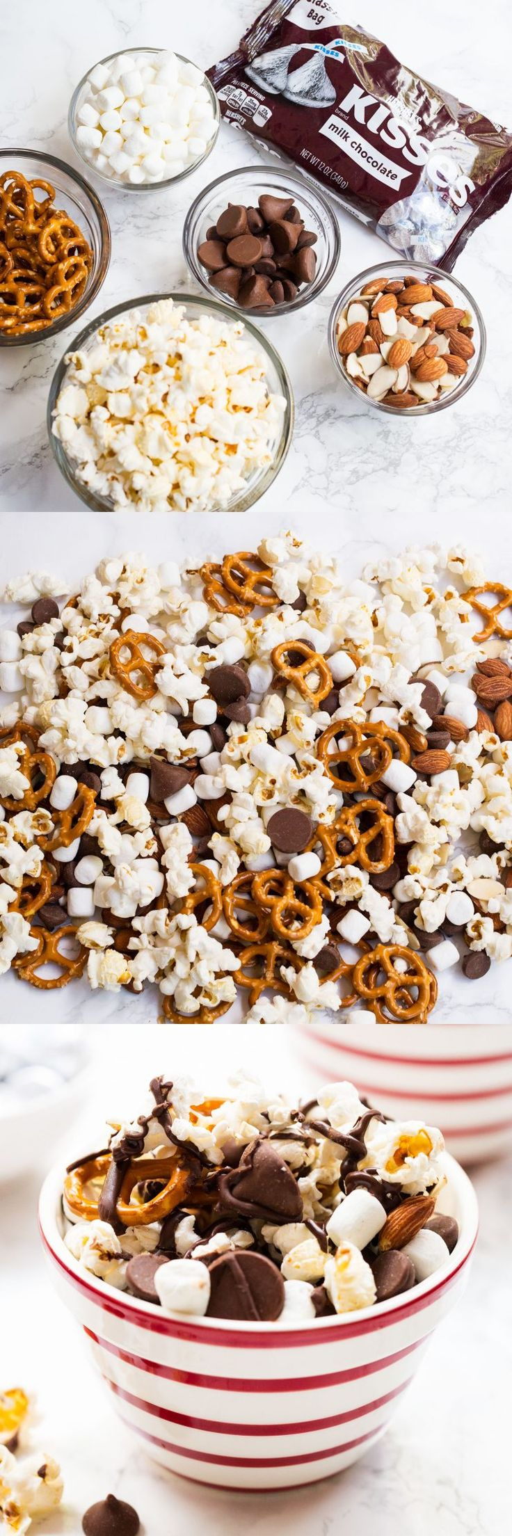 This easy S'mores Snack Mix would be a great treat to enjoy while watching holiday movies!