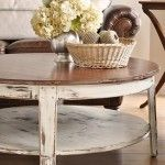Beige cream sand off-white decor: Ideas, Painted Furniture, Leather Couch, Distressed Coffee Tables, Livingroom, Living Room, Distressed Table, Kitchen Table