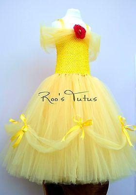 Disney Princess Belle inspired Tutu dress costume (Handmade) Party, Dress up