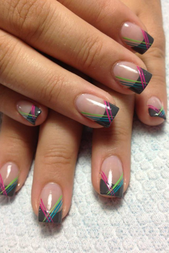 Best 25+ Color French Manicure Ideas On Pinterest