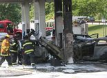 Fire at Hutchinson River Parkway gas station  New York Car Accident Lawyer http://www.ajlounyinjurylaw.com