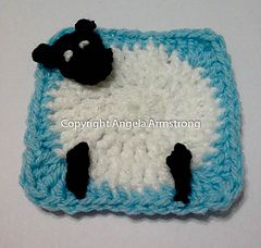 """Dotty About Dolly - Free crochet pattern 3.5"""" square, (adjustable) by Angela Armstrong"""