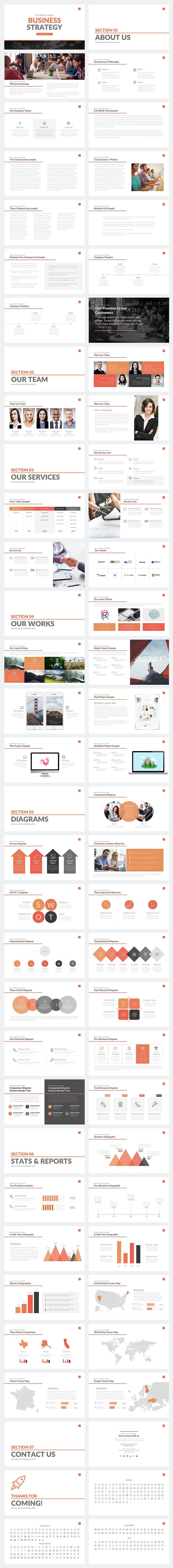 Business Strategy Deck PowerPoint by Rocketo Graphics on @creativemarket #ad
