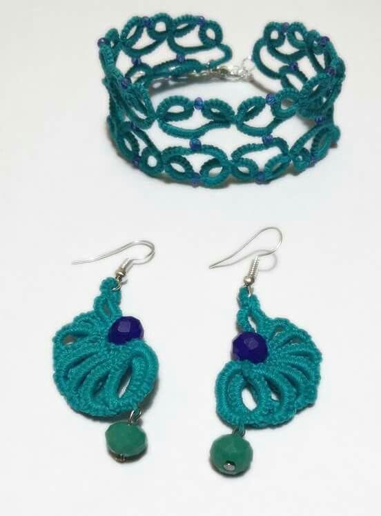 Braccialetto e orecchini turchese