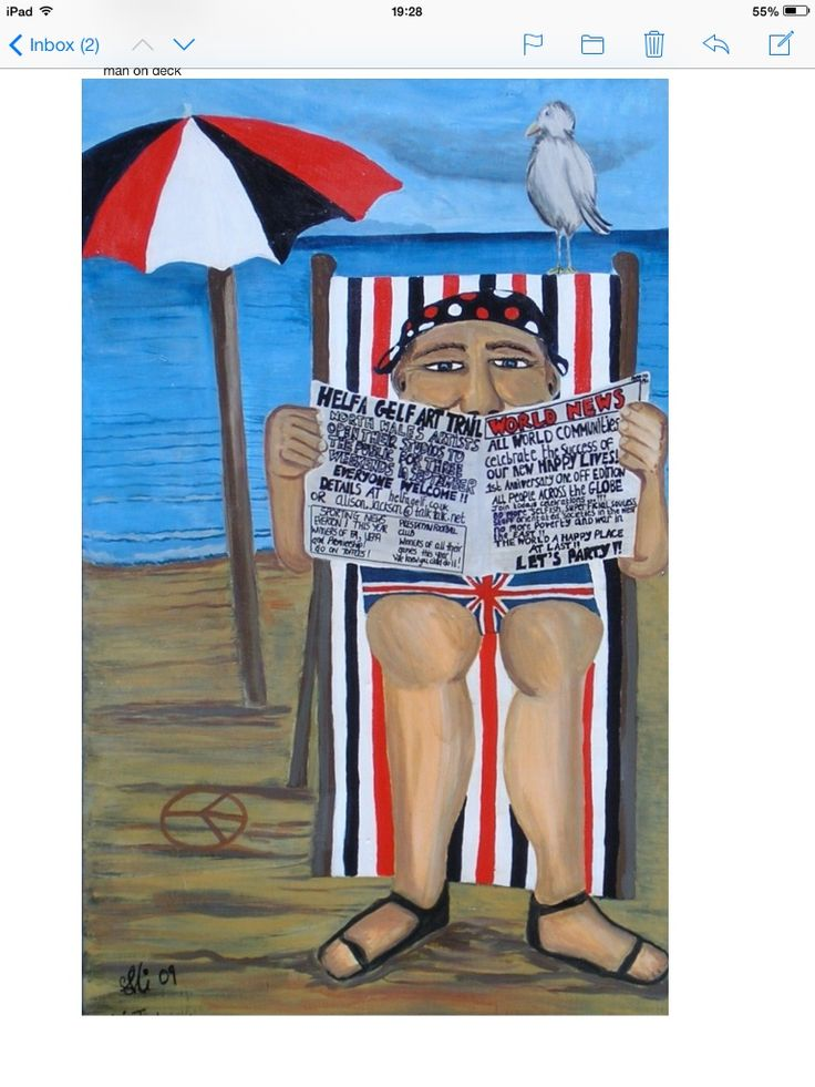 Man on Deckchair