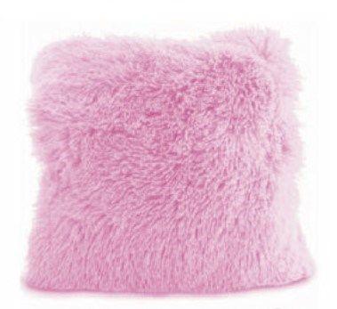 Ružové chlpaté obliečky na vankúš