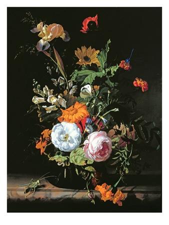 Still life flower painting by Rachel Ruysch