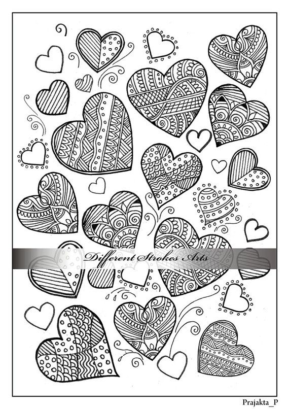 364 best ✐♥Adult Colouring~Hearts~Love ~Zentangles♥✐ images on ...