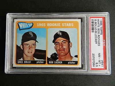 1965 Topps White Sox Rookies G. Bollo-Bob Locker #541 PSA 8.5 NM-Mt
