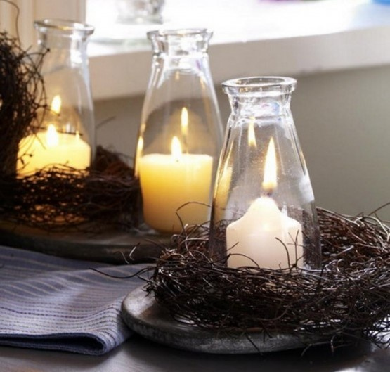 attractive candle decorations for Thanksgiving fast