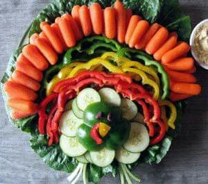 Vegetables centerpiece for Thanksgiving                                                                                                                                                                                 More
